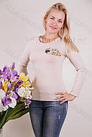 Блуза-туника трикотажная 401-осн700-144 норма оптом от производителя Украина