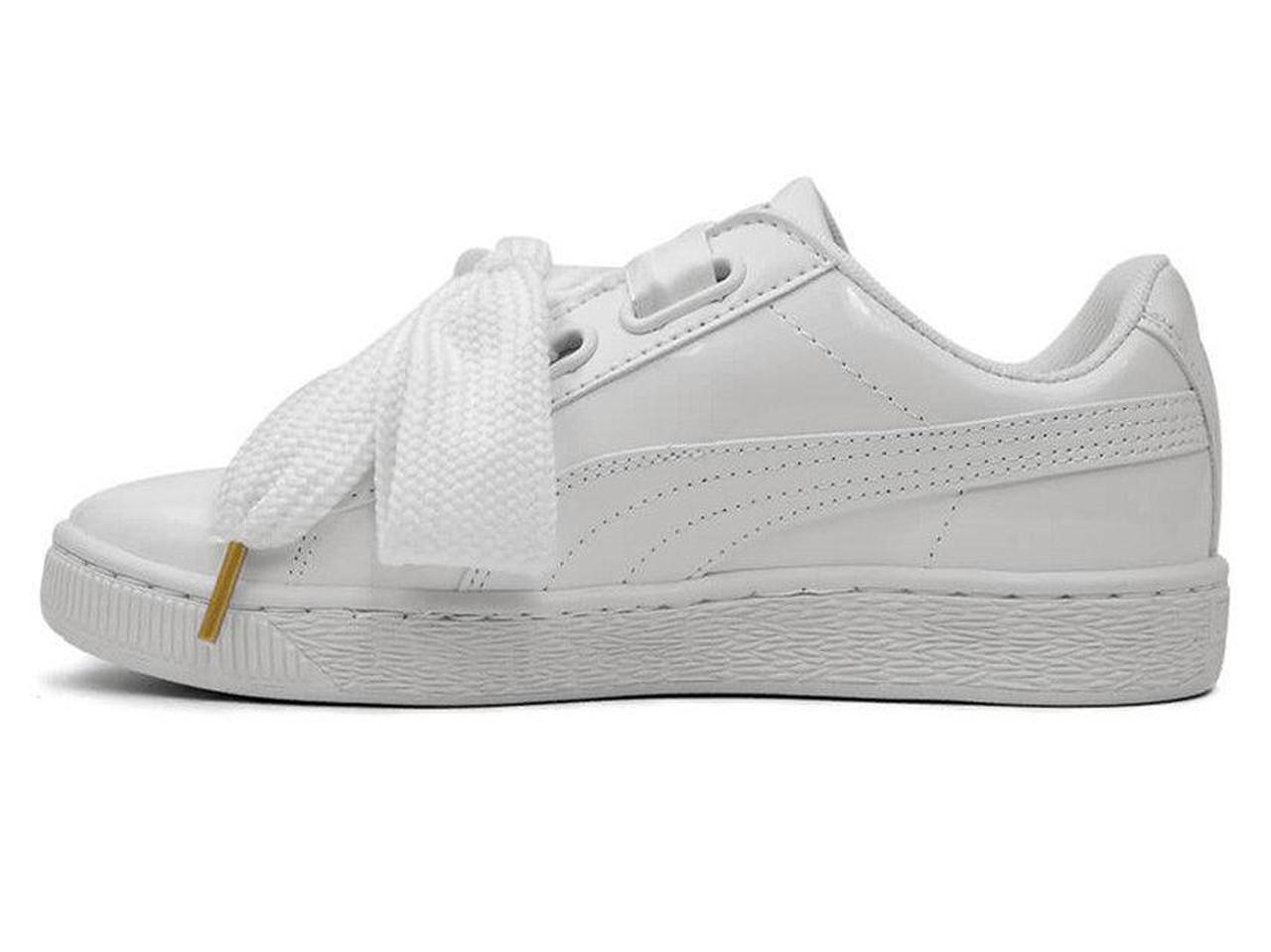 0ecc74fe88e7 Женские кроссовки Puma Basket Heart Patent White (Реплика ААА+) - Rocket  Shoes -