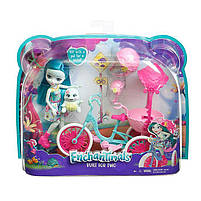 Игровой набор велосипед на двоих и кукла Энчантималс / Enchantimals Built for Two Doll Set, фото 6