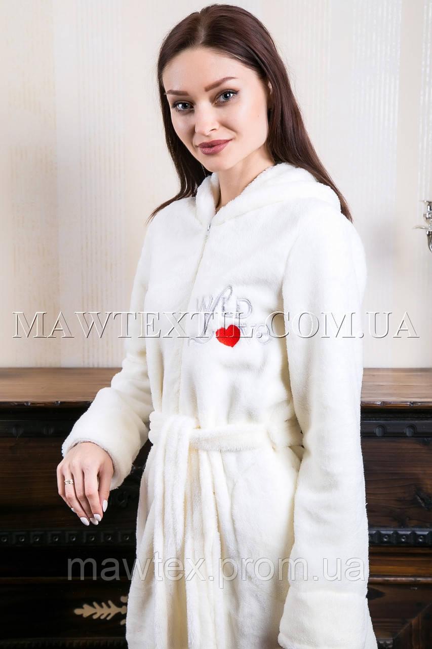 591130131bf86 Женский махровый халат короткий Wild Love белый : продажа, цена в ...