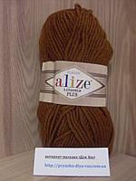 Полушерстяная пряжа (49%-шерсть,51%-акрил,100г/140м) Alize Lanagold plus 373(ириска)