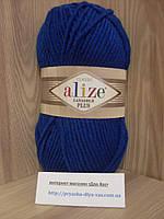 Полушерстяная пряжа (49%-шерсть,51%-акрил,100г/140м) Alize Lanagold plus 155(тёмно-бирюзовый)