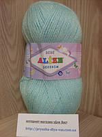 Детская пряжа(100%-акрил,100г/320м) Alize Sekerim bebe 19(водяная зелень)