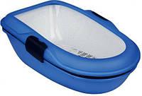 TRIXIE (Трикси)  Berto Туалет для кошек с бортиком и сеткой, синий
