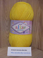 Детская пряжа(100%-акрил,100г/320м)Alize Sekerim bebe 566(жёлтый)