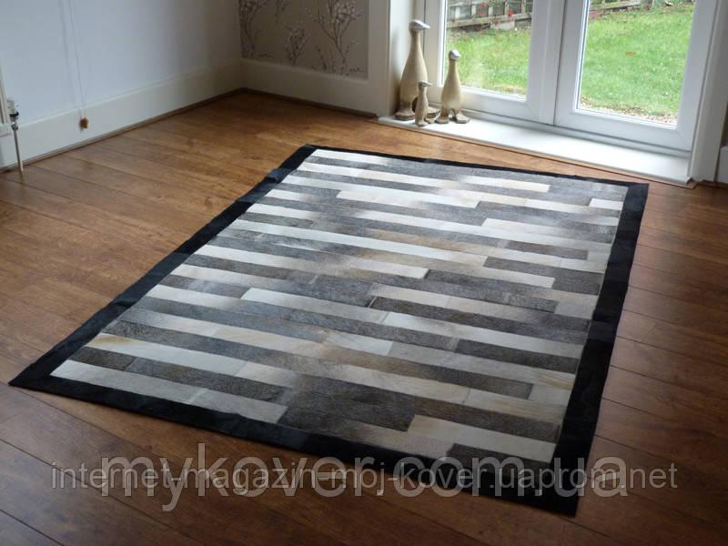 Продажа ковров из шкур, ковер с черным кантом