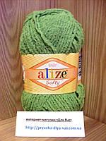 Детская пряжа (100%-микрополиэстер,50г/115м)Alize Baby Softy 242(фисташка)
