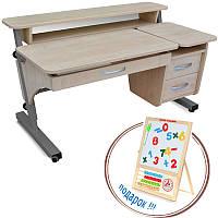 """Детский письменный стол """"Эргономический"""" ДСП цвет бук"""