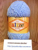 Детская пряжа (100%-микрополиэстер,50г/115м) Alize Baby Softy 350(светло-голубой)