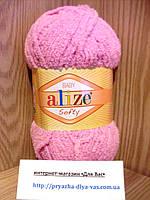 Детская пряжа(100%-микрополиэстер,50г/115м) Alize Baby Softy 98 (розовый)