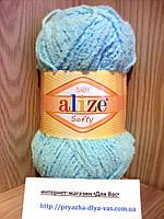 Детская пряжа (100%-микрополиэстер,50г/115м) Alize Baby Softy 669(светлая бирюза)