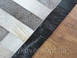 Продаж килимів з шкур, килим з чорним кантом, фото 2