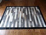 Продаж килимів з шкур, килим з чорним кантом, фото 3