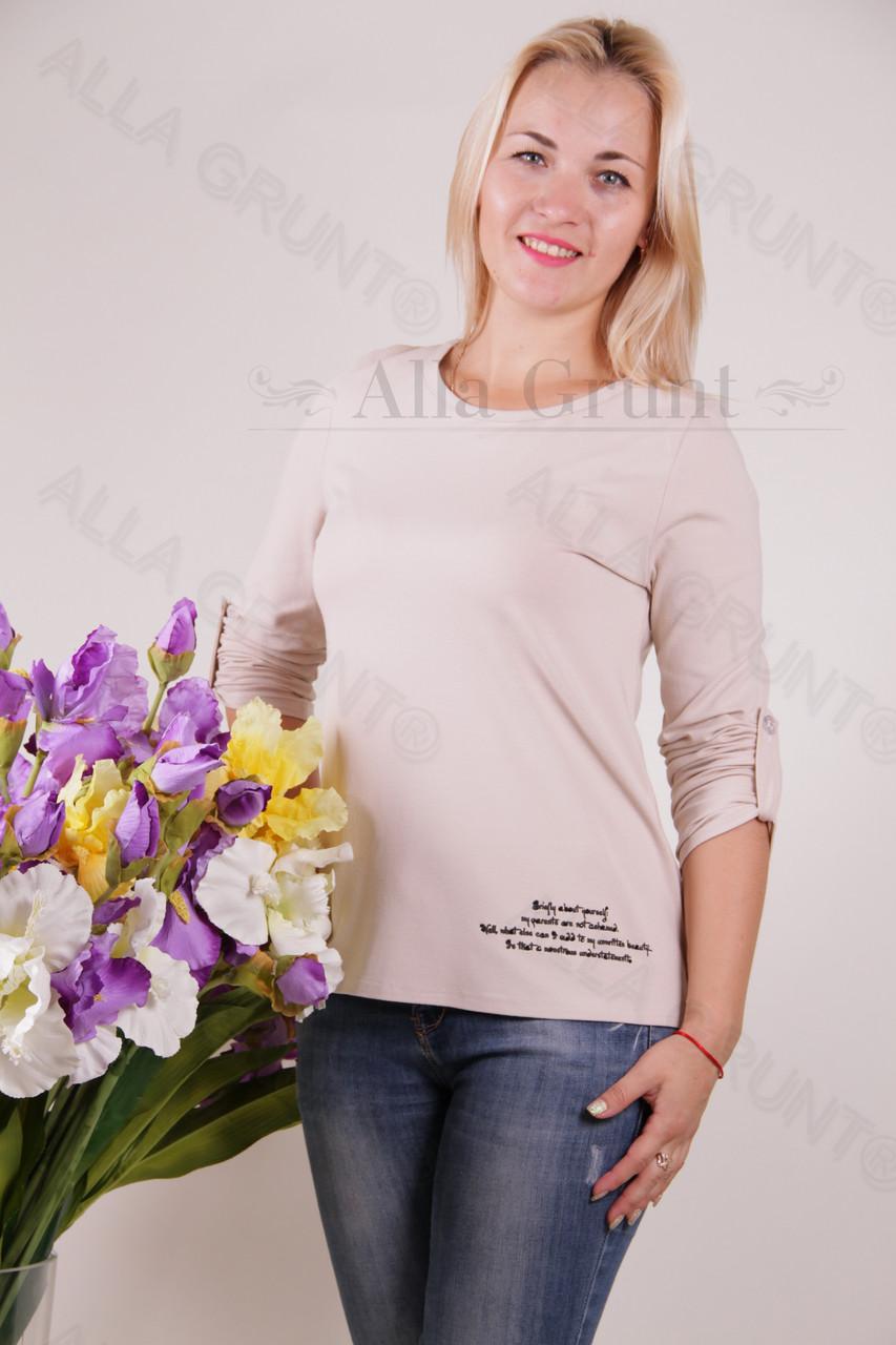 Блуза-туника трикотажная 401-осн800-130 полубатал оптом от производителя Украина