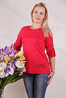 Блуза-туника трикотажная 424-осн800-130 полубатал оптом от производителя Украина
