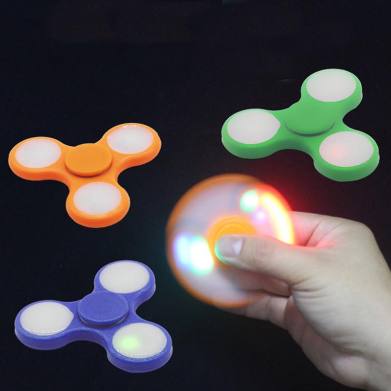 Спиннер spinner пластиковый светящийся