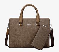 Мужская кожаная сумка. Модель 61292, фото 5