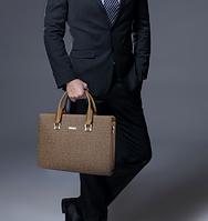 Мужская кожаная сумка. Модель 61292, фото 10