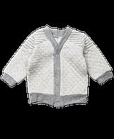 Кофточка на кнопках из капитона для мальчика Ляля 2Т033р. 62-80