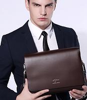 Мужская кожаная сумка. Модель 61294, фото 2