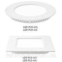Светодиодная энергосберегающая (LED) панель Eurolamp PLR/PLS 4W
