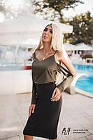 Женская Блуза матовый шелк