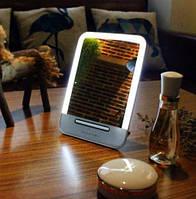 Зеркало косметическое настольное с LED подсветкой с зарядкой от USB, фото 1