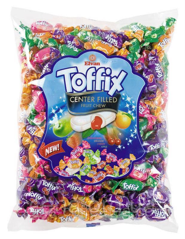Жевательные конфеты Toffix фруктовый микс 1 кг