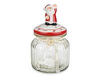 """Набор из 2 банок для сыпучих с крышкой """"Дед Мороз"""" 600 мл 941-033-2"""