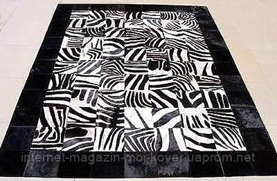 Килим з малюнком зебри з чорними краями