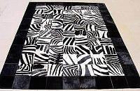 Ковер с рисунком зебры с черными краями