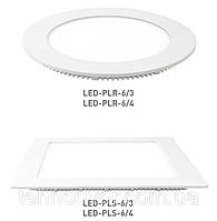 Светодиодная энергосберегающая (LED) панель Eurolamp PLR/PLS 6W