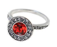 """Кольцо """"Лоо"""" с кристаллами Swarovski, покрытое серебром (d4763010)"""
