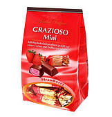 Шоколадные конфеты с клубнично-кремовой начинкой Grazioso Mini, Maitre Truffout, 108 г