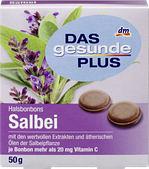 Леденцы от кашля Das gesunde Plus Salbei с маслом шалфея и витамином С, 19 шт.