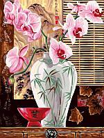 Картина по номерам Восточные орхидеи 30х40см от бренда Babylon