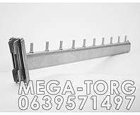 Кронштейн (флейта торговая) овальная в рейку металлик 45 см