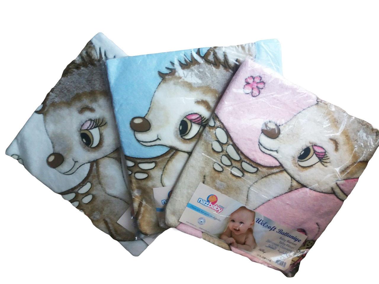 Одеяло (плед) махровый детский, размер 85*95, арт. В 101