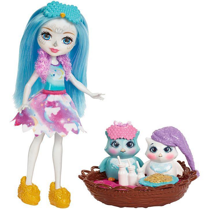 Кукла Энчантималс Enchantimals Сова с питомцами Развлечения на природе Сказки на ночь FCG78