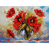 Картина по номерам Маки в стеклянной вазе 40х50см от бренда Babylon