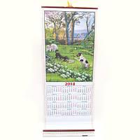 """Календарь настенная циновка """"Собачки в лесу"""""""
