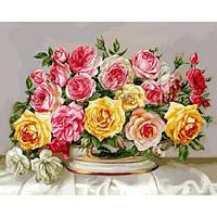 """Картина по номерам """"Розовое великолепие"""" [40х50см, С Коробкой]"""