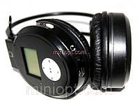 Наушники Headphone EJ-188. MP3 + FM. Черные, фото 1