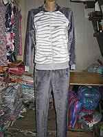 Пижамы Полированная махра на молнии без капюшона