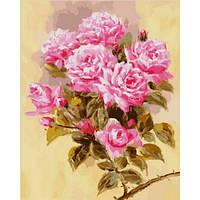 """Картина раскраска по номерам """"Розовая ветвь"""" набор для рисования"""