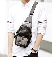 Мужская кожаная сумка. Модель 61299, фото 4
