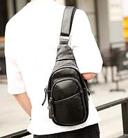 Мужская кожаная сумка. Модель 61299, фото 3