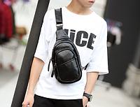 Мужская кожаная сумка. Модель 61299, фото 6