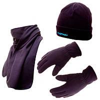 FLAGMAN Шапка флисовая + шарф + рукавицы
