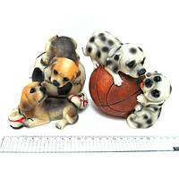 """Сувенир керамический копилка """"Собачки на мяче"""" 13см, mix2"""